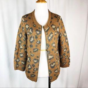 LOFT Leopard Print Cardigan